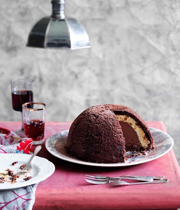 **Chocolate and hazelnut zuccotto** **Chocolate and hazelnut zuccotto**    [View Recipe](http://www.gourmettraveller.com.au/chocolate-and-hazelnut-zuccotto.htm)     PHOTOGRAPH **BEN DEARNLEY**