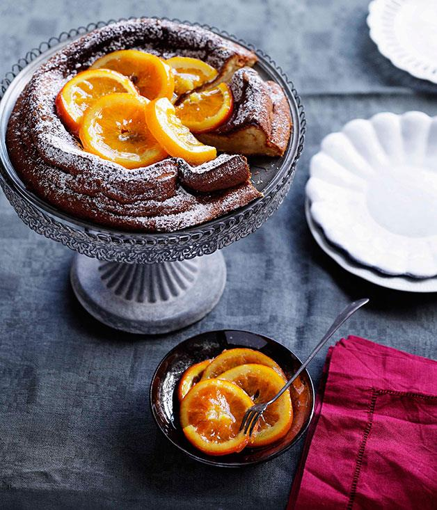[**Olive oil and vin santo torta with candied oranges**](http://gourmettraveller.com.au/olive-oil-and-vin-santo-torta-with-candied-oranges.htm)