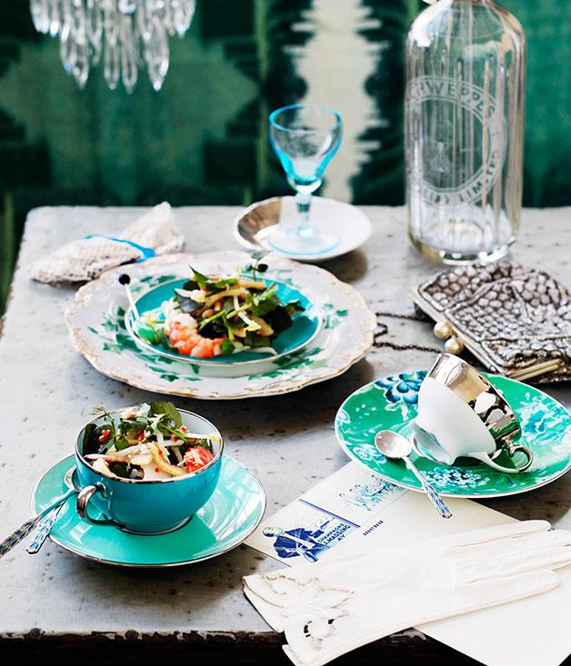 """[**Pork crackling, prawn and watercress salad**](https://www.gourmettraveller.com.au/recipes/browse-all/pork-crackling-prawn-and-watercress-salad-10809