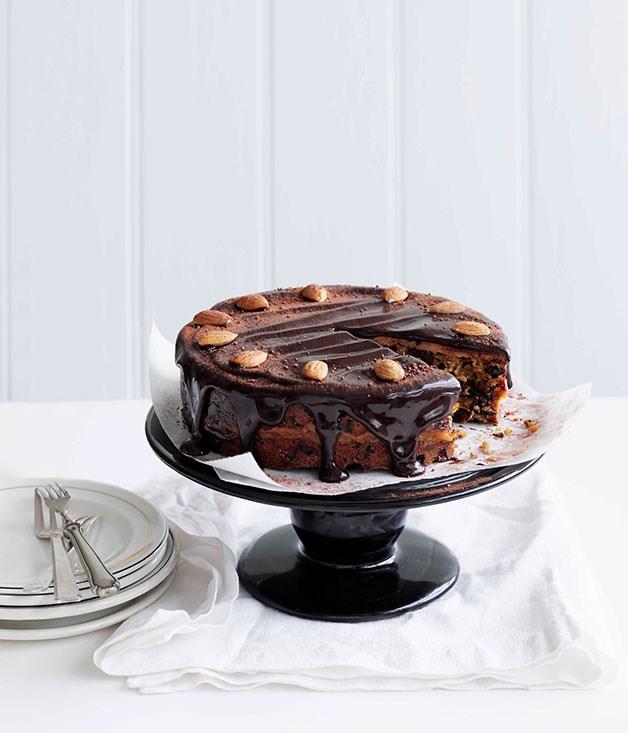 Chocolate and almond simnel cake