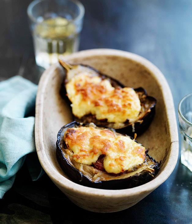 **Eggplant with braised lamb** **Eggplant with braised lamb**    [View Recipe](http://gourmettraveller.com.au/eggplant-with-braised-lamb.htm)     PHOTOGRAPH **WILLIAM MEPPEM**