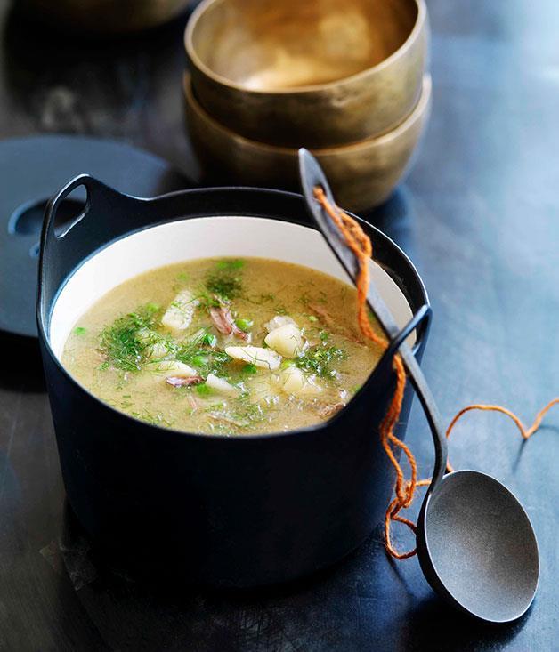 **Lamb, pea and fennel soup** **Lamb, pea and fennel soup**    [View Recipe](http://gourmettraveller.com.au/lamb-pea-and-fennel-soup.htm)     PHOTOGRAPH **WILLIAM MEPPEM**