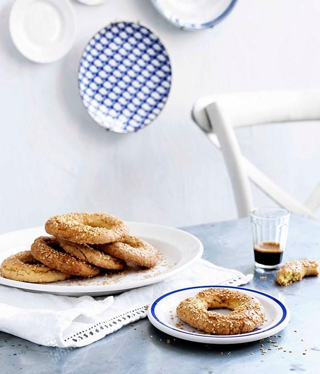 **Sesame rings** **Sesame rings**    [View Recipe](http://gourmettraveller.com.au/sesame-rings.htm)     PHOTOGRAPH **BEN DEARNLEY**