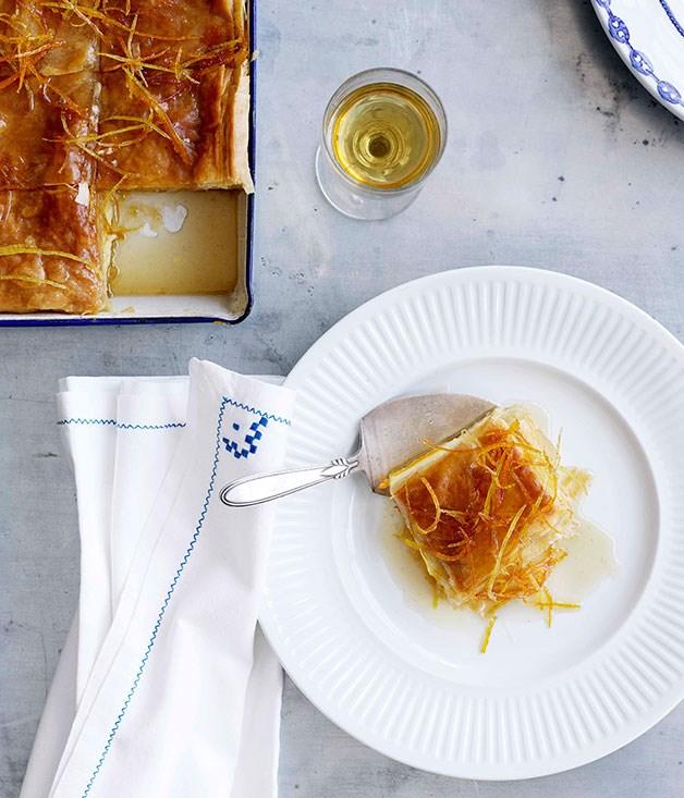 **Orange and lemon galaktoboureko** **Orange and lemon galaktoboureko**    [View Recipe](http://gourmettraveller.com.au/orange-and-lemon-galaktoboureko.htm)     PHOTOGRAPH **BEN DEARNLEY**