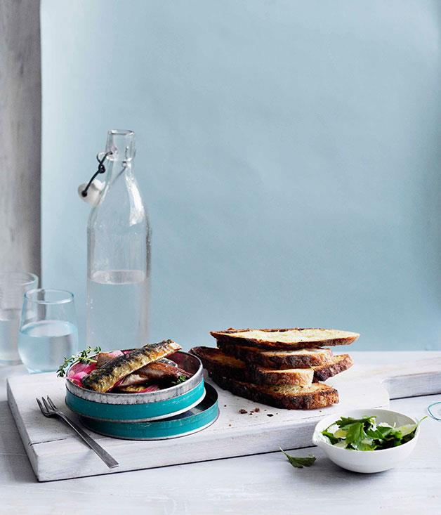 **Soused sardines on toast** **Soused sardines on toast**    [View Recipe](http://gourmettraveller.com.au/soused-sardines-on-toast.htm)     PHOTOGRAPH **BEN DEARNLEY**