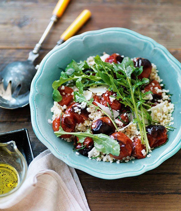 **Fregola with caramelised tomato and rocket**