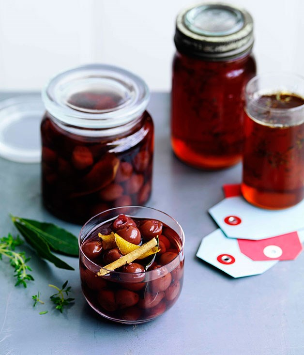 Mulled wine pickled cherries