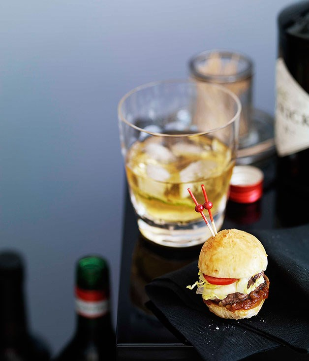 **Cocktail food** **Dark & Stormy**    [View Recipe](http://gourmettraveller.com.au/dark-stormy.htm)     **Silver dollar burgers**    [View Recipe](http://gourmettraveller.com.au/silver-dollar-burgers.htm)     PHOTOGRAPH **WILLIAM MEPPEM**