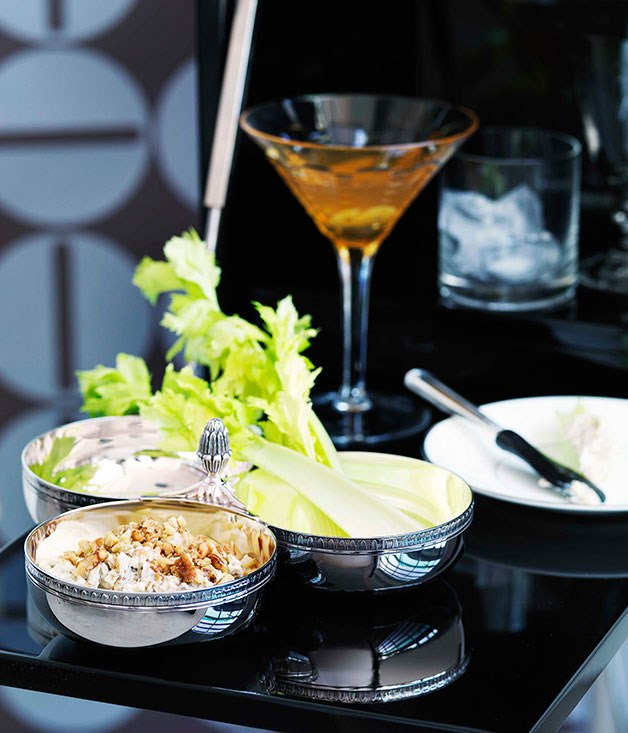 **Cocktail food** **Penicillin**    [View Recipe](http://gourmettraveller.com.au/penicillin.htm)     **Caramelised onion, Roquefort and walnut dip**    [View Recipe](http://gourmettraveller.com.au/caramelised-onion-roquefort-and-walnut-dip.htm)     PHOTOGRAPH **WILLIAM MEPPEM**