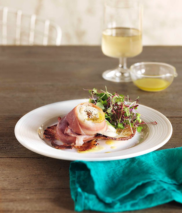 **Baked buffalo mozzarella and prosciutto** **Baked buffalo mozzarella and prosciutto**    [View Recipe](http://gourmettraveller.com.au/baked-buffalo-mozzarella-and-prosciutto.htm)     PHOTOGRAPH **JASON LOUCAS**