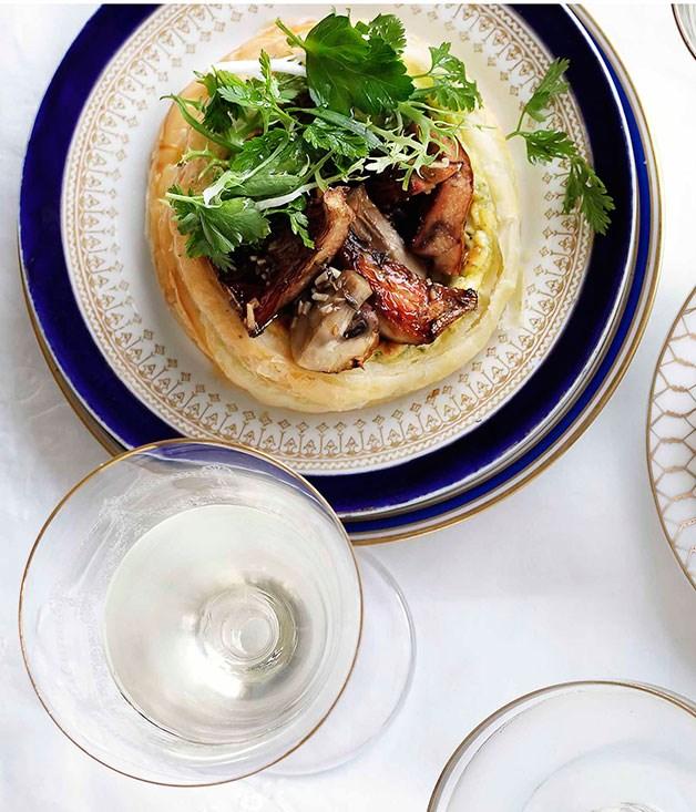**** **Mushroom galette**    [View Recipe](http://gourmettraveller.com.au/mushroom-galette.htm)     PHOTOGRAPH **BEN DEARNLEY**