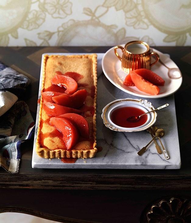 "**[Quince tart](https://www.gourmettraveller.com.au/recipes/browse-all/quince-tart-10440|target=""_blank"")**"