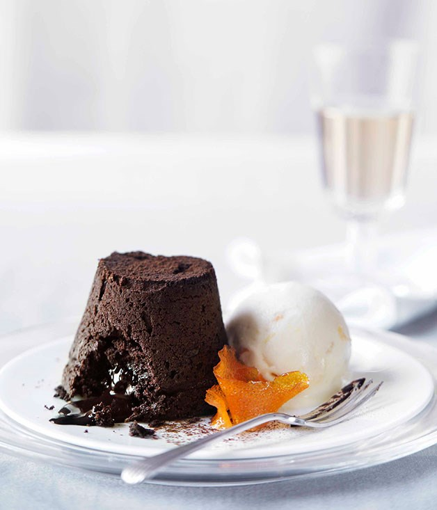 Orange chocolate fondants