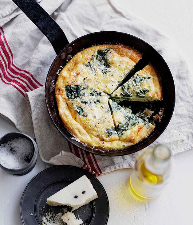 "**[Rocket, ricotta and pecorino frittata](http://www.gourmettraveller.com.au/recipes/browse-all/rocket-ricotta-and-pecorino-frittata-10488|target=""_blank"")**"