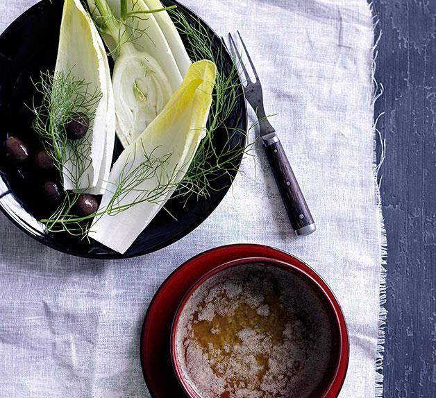 Bagna càuda with witlof and fennel
