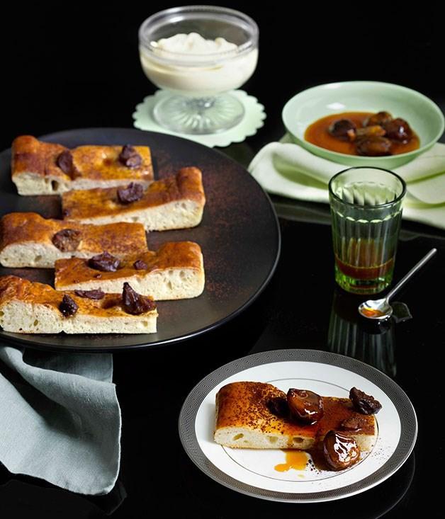 Honeyed chestnut schiacciata