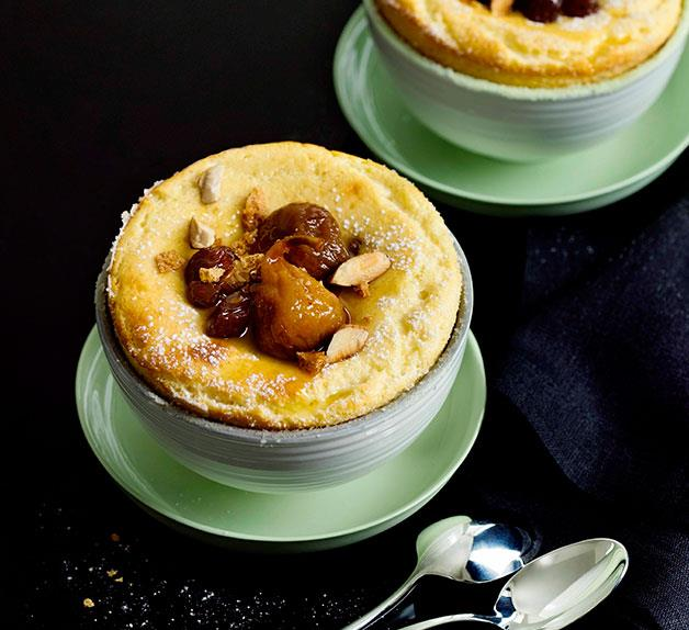 Baked ricotta with amaretti crumble