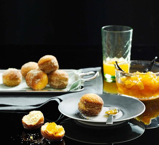 Fennel bomboloni with orange jam