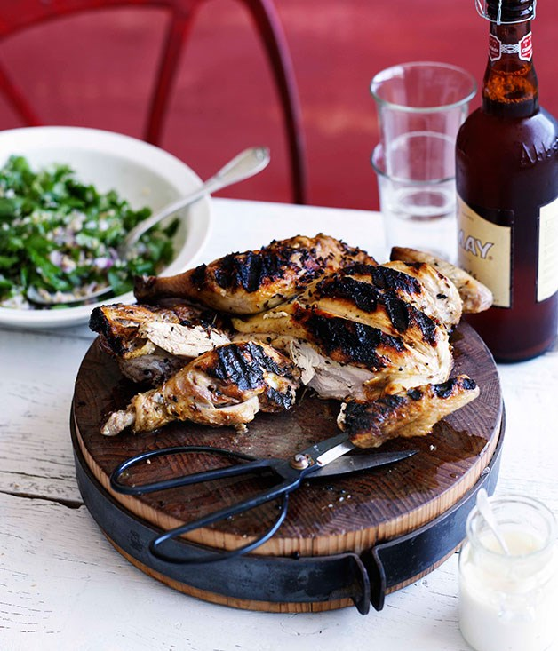 Spiced chicken with tabbouleh