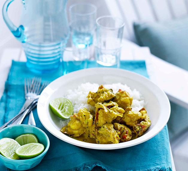 Southern Indian lobster curry