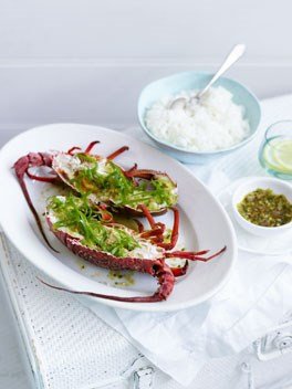 Chinese ginger-steamed lobster