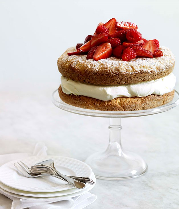 Berry and lemon crème fraîche shortcake