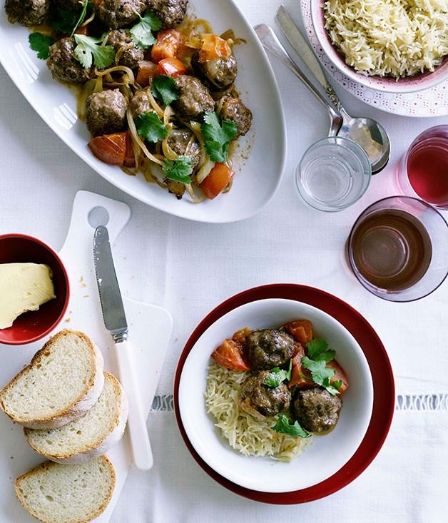 Lamb meatballs with Lebanese rice