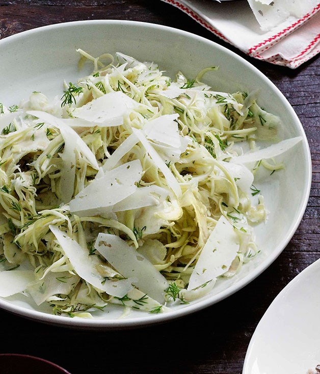 Baby artichoke and Manchego salad