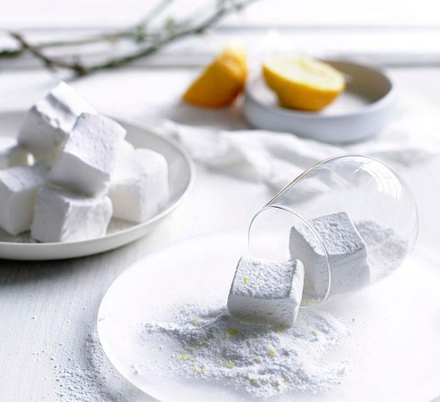 Lemon sherbet marshmallows