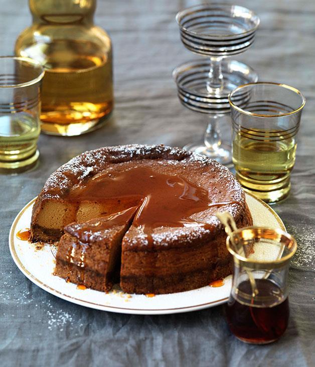 "[**Caramel yoghurt cheesecake**](http://www.gourmettraveller.com.au/caramel_yoghurt_cheesecake.htm|target=""_blank"")"
