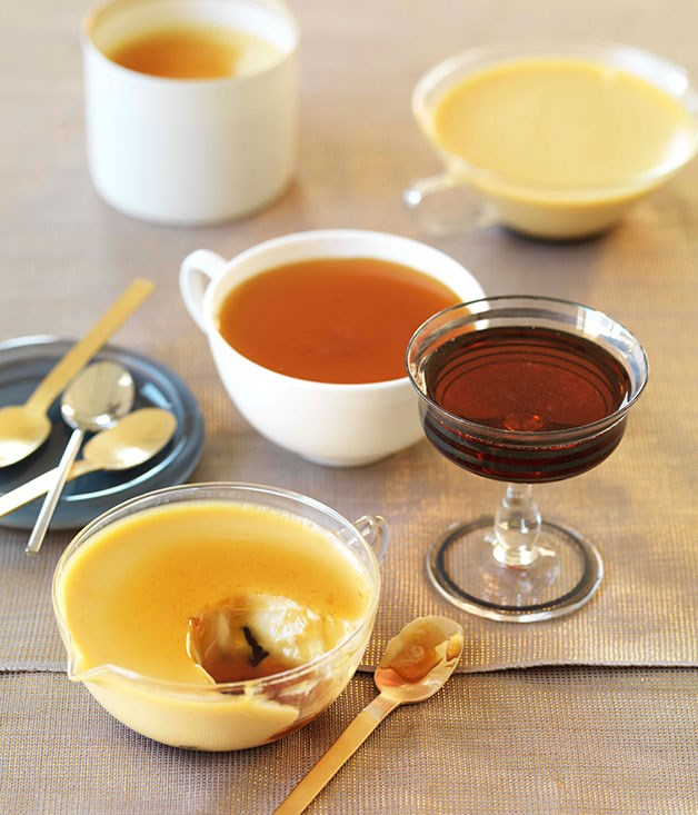 Baked muscatel creams with muscat caramel