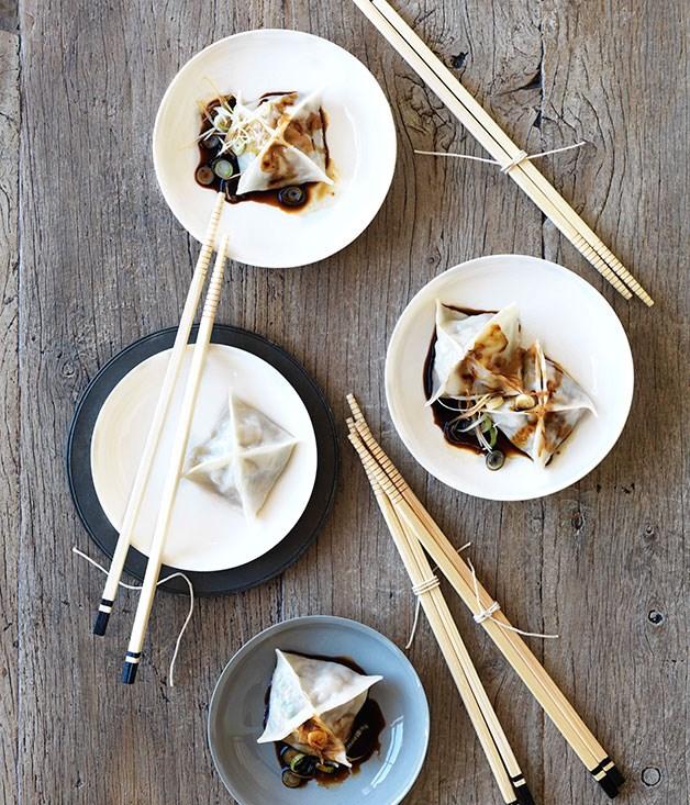 "[Pork dumplings](https://www.gourmettraveller.com.au/recipes/browse-all/pork-dumplings-10114|target=""_blank"")"