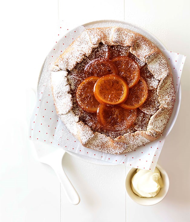 Candied orange crostata