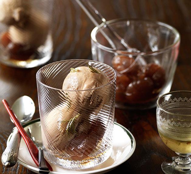Sweet chestnut and rosemary gelato