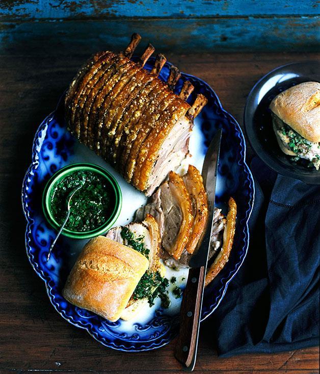 "**[Rack of roast pork](http://www.gourmettraveller.com.au/recipes/browse-all/rack-of-roast-pork-10147|target=""_blank"")**"