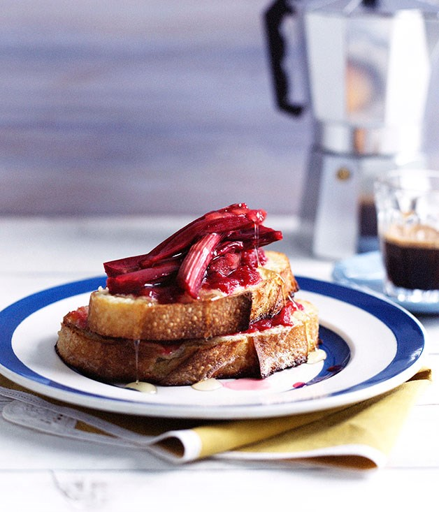 Rhubarb and mascarpone French toast