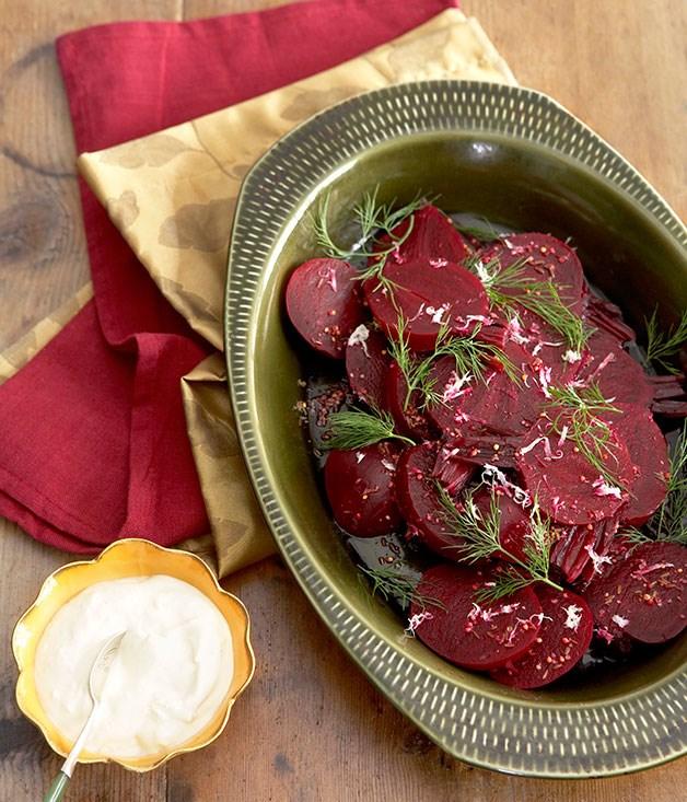Beetroot, dill and horseradish salad