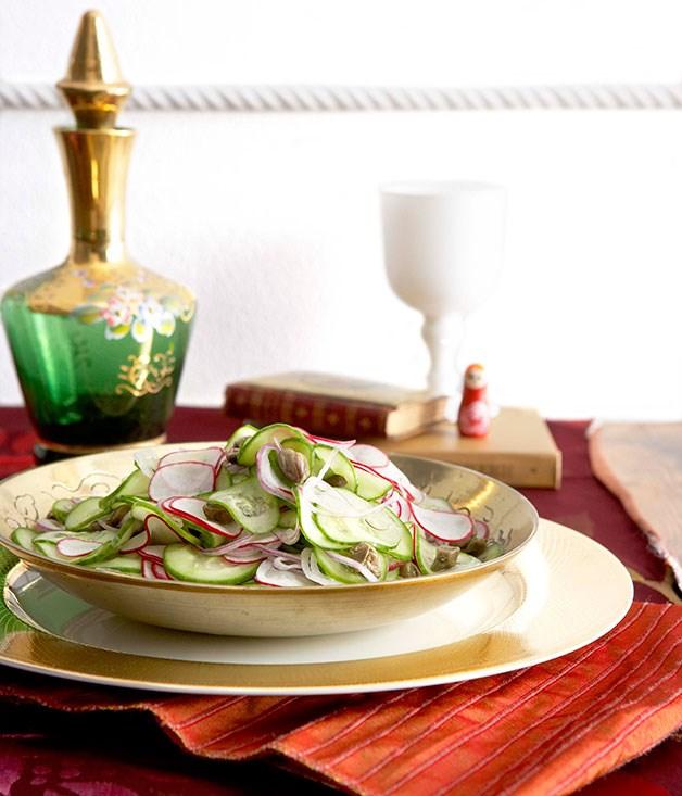 Cucumber and caper salad