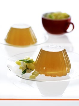 Lychee, ginger and lemongrass jellies