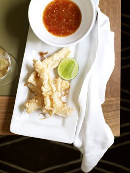 Salt-and-pepper squid with tomato nahm jim