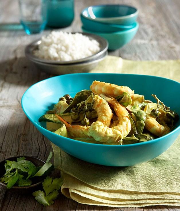 Prawn and green mango curry