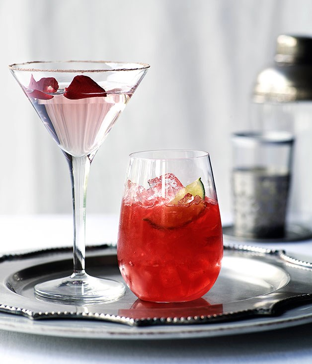 Turkish Delight Martini (left)