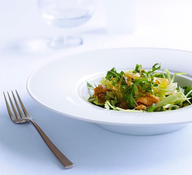 Sea urchin, bottarga and celery salad