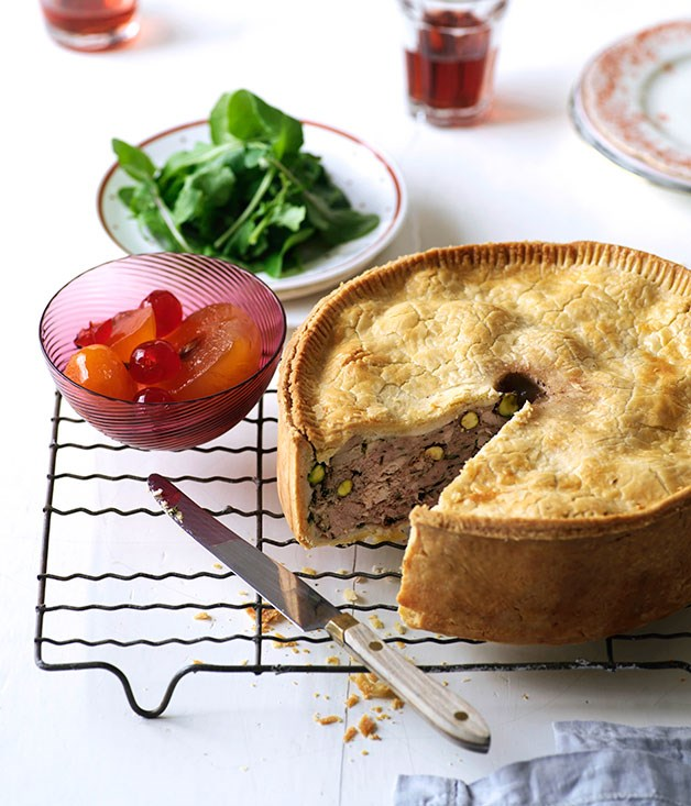 Pork and turkey luncheon pie