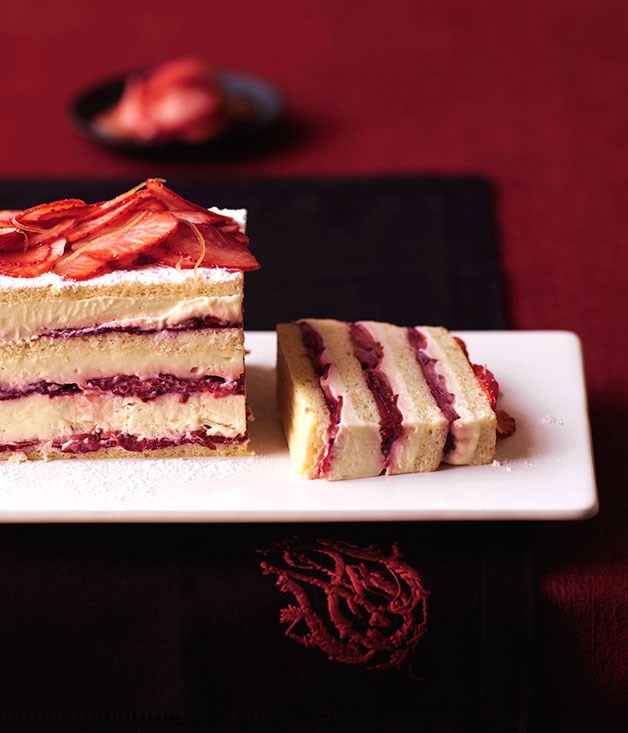"""[Strawberry layer cake](https://www.gourmettraveller.com.au/recipes/browse-all/strawberry-layer-cake-9954