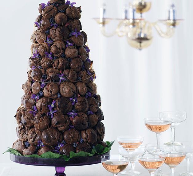 Chocolate croquembouche