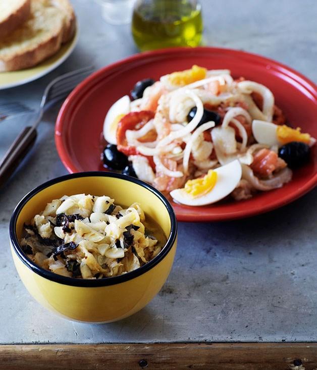 Esqueixada (Salt cod, tomato, baby red capsicum and olive salad)