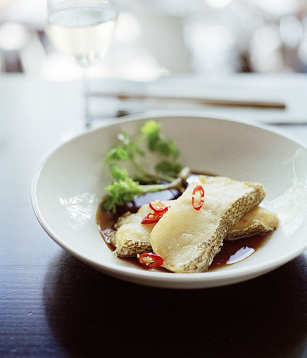Wok-fried Patagonian toothfish