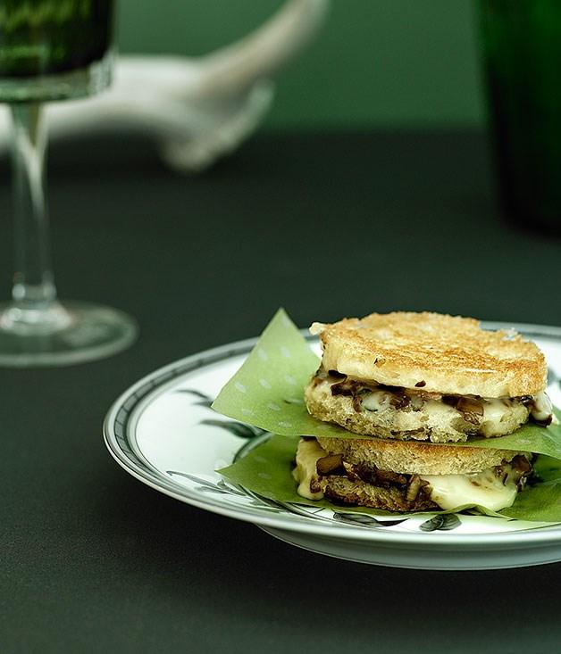 Porcini and taleggio fried sandwiches