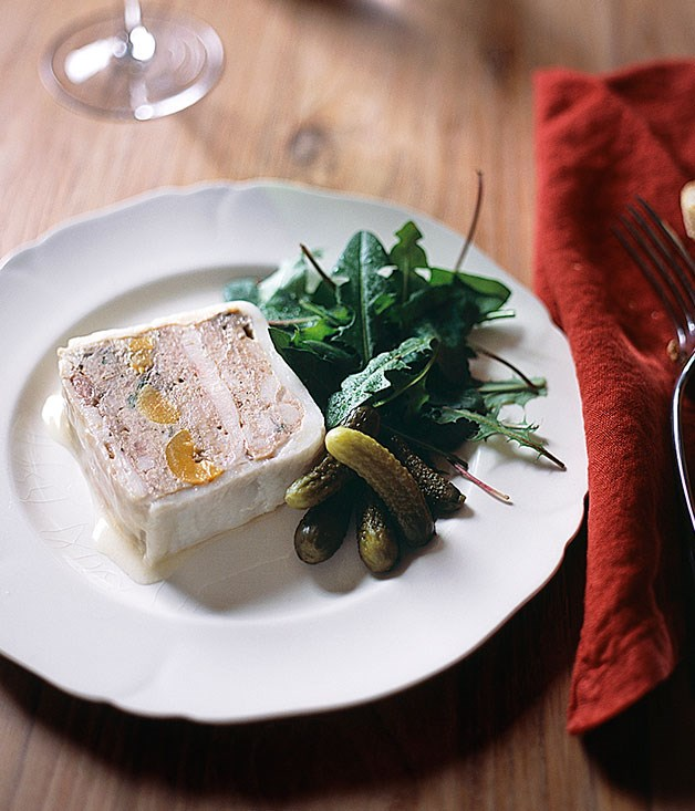 Rabbit terrine with plums and Mirabelle eau-de-vie